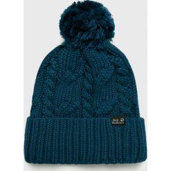 Jack Wolfskin - Czapka. Czarne czapki zimowe męskie marki Jack Wolfskin, w paski, z materiału. W wyprzedaży za 99,90 zł.