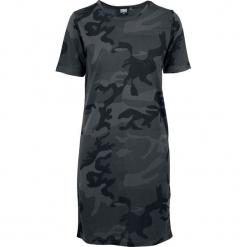 Urban Classics Ladies Camo Tee Dress Sukienka kamuflaż (Dark Camo). Zielone sukienki Urban Classics, xxl, z okrągłym kołnierzem, z krótkim rękawem, mini, oversize. Za 74,90 zł.