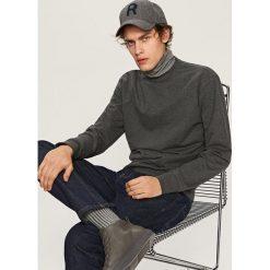 Gładka bluza Basic - Szary. Białe bluzy męskie marki Reserved, l. Za 59,99 zł.