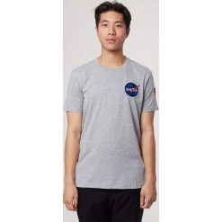 Space Shuttle T-Shirt GREY HEATHER. Brązowe t-shirty męskie Alpha Industries. Za 169,99 zł.
