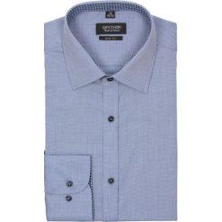 Koszula bexley 2234 długi rękaw slim fit niebieski. Niebieskie koszule męskie na spinki Recman, na lato, m, z bawełny, z klasycznym kołnierzykiem, z długim rękawem. Za 89,99 zł.