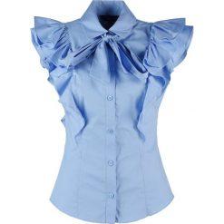 Koszule wiązane damskie: Karen Millen SUPER  Koszula blue