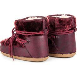 Buty zimowe damskie: Śniegowce burgundy LONDON