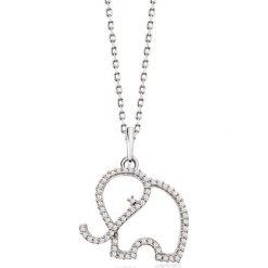 Zjawiskowy Białe Złoto Wisiorek - złoto białe 333, Diament 0,09ct. Szare łańcuszki męskie marki W.KRUK, srebrne. Za 599,00 zł.