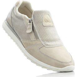 Buty sportowe Brütting bonprix beżowy. Szare buty sportowe damskie marki bonprix, z materiału. Za 109,99 zł.