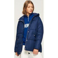 Płaszcz z rękawiczkami - Granatowy. Niebieskie płaszcze damskie Sinsay, l. Za 179,99 zł.