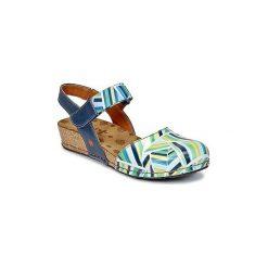 Sandały Art  POMPEI. Niebieskie sandały damskie Art, z kauczuku. Za 335,20 zł.