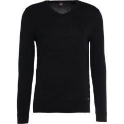 Swetry klasyczne męskie: BOSS CASUAL AKYVIS Sweter black