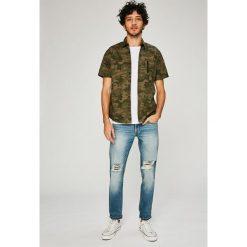 Dissident - Koszula. Szare koszule męskie na spinki marki S.Oliver, l, z bawełny, z włoskim kołnierzykiem, z długim rękawem. W wyprzedaży za 59,90 zł.