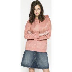 Adidas Originals - Bluza. Szare bluzy rozpinane damskie adidas Originals, z nadrukiem, z dzianiny, z kapturem. W wyprzedaży za 259,90 zł.