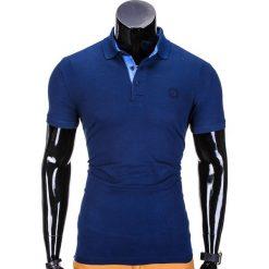 KOSZULKA MĘSKA POLO BEZ NADRUKU S837 - GRANATOWA. Niebieskie koszulki polo Ombre Clothing, m, z nadrukiem. Za 29,00 zł.