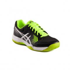 Buty tenisowe Asics Gel Dedicate. Czarne buty do tenisa męskie marki Kazar, z nubiku, przed kolano, na wysokim obcasie. W wyprzedaży za 179,99 zł.