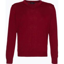 März - Męski sweter z wełny merino, czerwony. Czerwone swetry klasyczne męskie März, m, z wełny, z klasycznym kołnierzykiem. Za 449,95 zł.