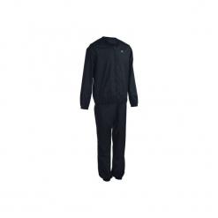 Kombinezon typu sauna fitness damski. Czarne kombinezony dresowe damskie marki DOMYOS. Za 59,99 zł.