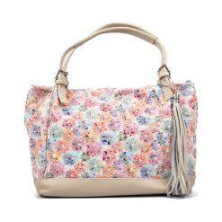 Torebki klasyczne damskie: Skórzana torebka w kolorze beżowym – (S)30 x (W)36 x (G)13 cm