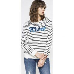 Vero Moda - Bluza Girls. Szare bluzy damskie Vero Moda, l, z aplikacjami, z bawełny, bez kaptura. W wyprzedaży za 49,90 zł.