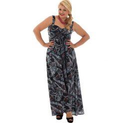 Odzież damska: Sukienka w kolorze czarno-biało-czerwonym