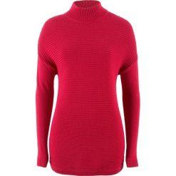 Sweter ze stójką bonprix czerwony. Niebieskie swetry klasyczne damskie marki ARTENGO, z elastanu, ze stójką. Za 32,99 zł.