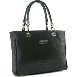 Torebki klasyczne damskie: Skórzana torebka w kolorze czarnym – (S)30 x (W)22 x (G)12 cm