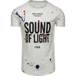 T-shirty męskie z nadrukiem: T-shirt męski z nadrukiem szary (rx1756)