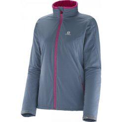 Kurtki sportowe damskie: Salomon Kurtka Biegowa Nova Softshell Jacket W Bleu Gris S