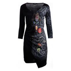 Desigual Sukienka Damska Xs Czarny. Czarne sukienki marki Desigual, xs. W wyprzedaży za 259,00 zł.