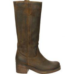 Kozaki - 2340 CRO SENA. Brązowe buty zimowe damskie marki Kazar, ze skóry, przed kolano, na wysokim obcasie. Za 319,00 zł.