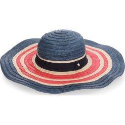 Kapelusz TOMMY HILFIGER - Corporate Straw Wide Brim Hat AW0AW05242 901. Niebieskie kapelusze damskie TOMMY HILFIGER, z materiału. W wyprzedaży za 179,00 zł.