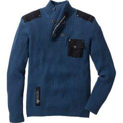 """Swetry męskie: Sweter """"Slim fit"""" bonprix ciemnoniebieski"""