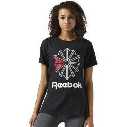 Koszulka Reebok Classic Graphic (BS3747). Czarne bluzki asymetryczne Reebok, z bawełny, z krótkim rękawem. Za 79,99 zł.