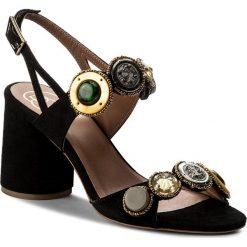 Rzymianki damskie: Sandały BALDOWSKI – D02237-4400-001 Zamsz Czarny