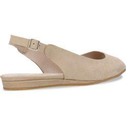 Sandały ROSITA. Brązowe sandały damskie Gino Rossi, w paski, z nubiku, na płaskiej podeszwie. Za 199,90 zł.