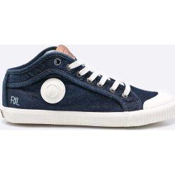 Pepe Jeans - Tenisówki Industry Blue Denim. Niebieskie tenisówki męskie Pepe Jeans, z denimu, na sznurówki. W wyprzedaży za 199,90 zł.