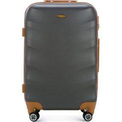 Walizka średnia 56-3A-232-11. Szare walizki marki Wittchen, z gumy, średnie. Za 179,00 zł.
