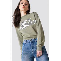 Bluzy damskie: NA-KD Trend Bluza Game Changer – Green
