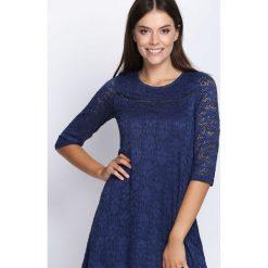 Granatowa Sukienka Ready For You. Niebieskie sukienki marki Born2be, na jesień, m, midi. Za 29,99 zł.