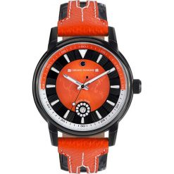 """Zegarki męskie: Zegarek kwarcowy """"Nereus"""" w kolorze pomarańczowo-czarnym"""
