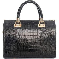 Torebki klasyczne damskie: Skórzana torebka w kolorze czarnym – 44 x 38 x 16 cm