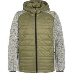 CMP FIX HOOD HYBRID Kurtka z polaru olive. Brązowe kurtki dziewczęce sportowe marki CMP, z materiału. W wyprzedaży za 129,35 zł.