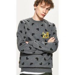 Bluza z nadrukiem all over - Szary. Czerwone bluzy męskie rozpinane marki KALENJI, m, z elastanu, z długim rękawem, długie. Za 79,99 zł.