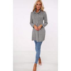 Kardigany damskie: Sweter zapinany na guziki ciemnoszary MISC005
