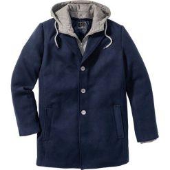 """Płaszcz """"Slim fit"""" bonprix ciemnoniebieski. Niebieskie płaszcze na zamek męskie bonprix, m, w prążki, z dresówki. Za 239,99 zł."""