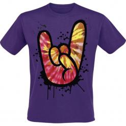 Rock Hand T-Shirt purpurowy. Fioletowe t-shirty męskie marki KIPSTA, m, z elastanu, z długim rękawem, na fitness i siłownię. Za 62,90 zł.