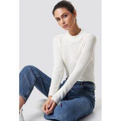 NA-KD Sweter z długim rękawem - White,Offwhite. Białe swetry klasyczne damskie NA-KD, z dzianiny. Za 161,95 zł.