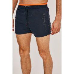 Pepe Jeans - Kąpielówki Elbe. Pomarańczowe kąpielówki męskie Pepe Jeans, m, z jeansu. W wyprzedaży za 159,90 zł.