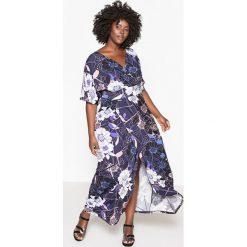 Sukienki: Kwiecista sukienka z dekoltem z przodu i z tyłu