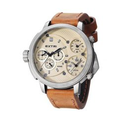 """Zegarki męskie: Zegarek """"X3002C"""" w kolorze jasnobrązowo-srebrnym"""