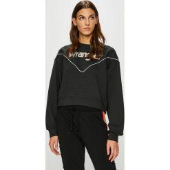 Wrangler - Bluza. Szare bluzy damskie marki Wrangler, na co dzień, m, z nadrukiem, casualowe, z okrągłym kołnierzem, mini, proste. Za 239,90 zł.