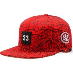 Czapka męska snapback czerwona (hx0170). Czerwone czapki z daszkiem męskie Dstreet, z aplikacjami, eleganckie. Za 69,99 zł.