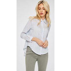 Answear - Koszula Stripes Vibes. Szare koszule wiązane damskie ANSWEAR, l, w paski, z bawełny, casualowe, z klasycznym kołnierzykiem, z długim rękawem. W wyprzedaży za 69,90 zł.
